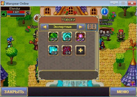Экспертные навыки у класса Друид в игре Warspear Online.